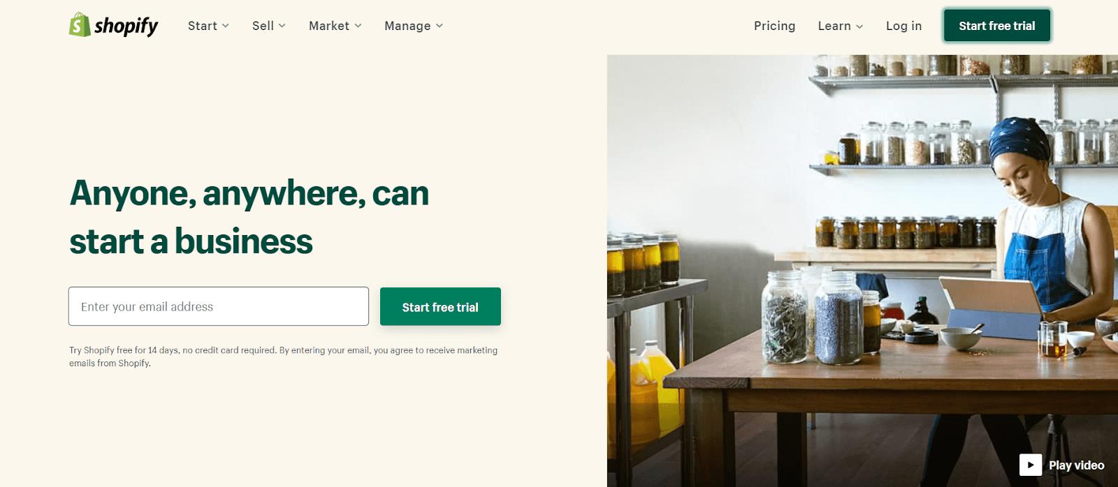 Shopify Registration