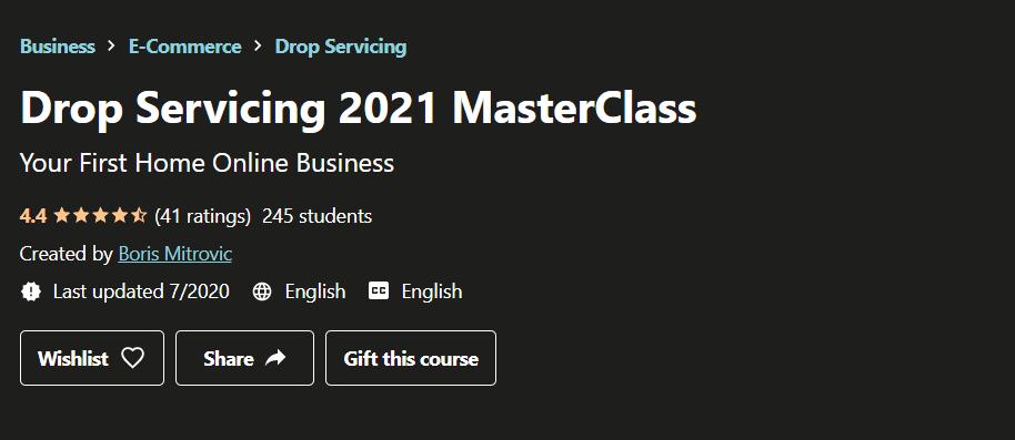 Drop Servicing 2021 MasterClass